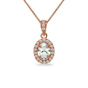 Rose-Gold-Flash-Sterling-Silver-Oval-Halo-Necklace-Made-with-Swarovski-Zirconia