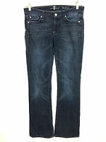 Seven 7 For All Mankind Boot Cut Blue Indigo Jeans Womens Size 27 Actual 31x32