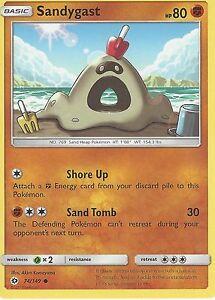 SANDYGAST 74//149 POKEMON SUN /& MOON CARD