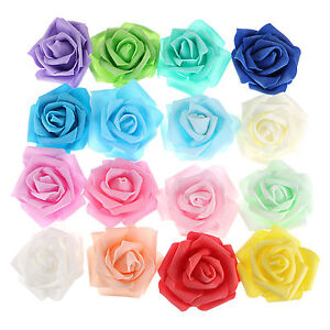 300pcs-7cm-Foam-Home-Furnishing-Artificial-Rose-Flower-Wedding-Party-Decorations