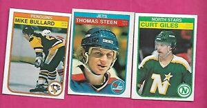 1982-83-OPC-STEEN-RC-GILES-RC-BULLARD-RC-CARD-INV-C2349