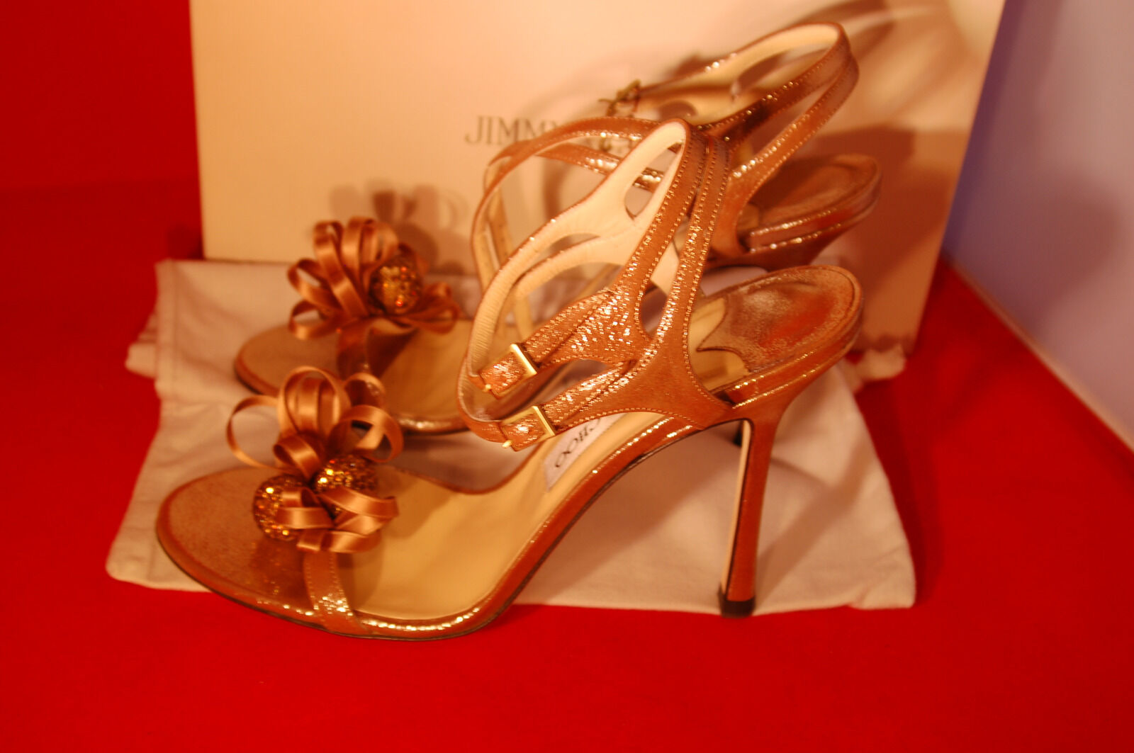 Jimmy Choo high heel sandals 1 Größe 39 1 sandals 2 Gold de62ad