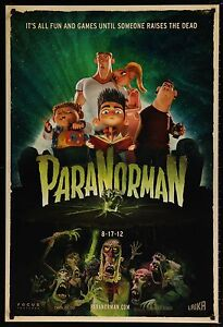 PARANORMAN-2012-Movie-Poster-27x40-DS-Animation-Horror-Zombies-MoviePoster