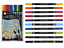 Pack-10-Permanent-Callicreative-Duo-Brush-Tip-Coloured-Dual-Nib-End-Pens-MM7005 thumbnail 1