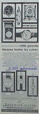 PUBLICITE JAEGER LECOULTRE MONTRE CALENDRIER PENDULE REVEIL DE 1960 FRENCH AD