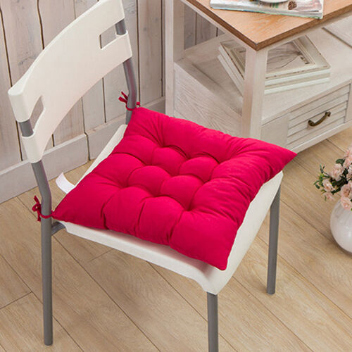 TIE ON CHUNKY SEAT PAD CHAIR CUSHION PADS FOR DINING ROOM GARDEN OFFICE USEFUL