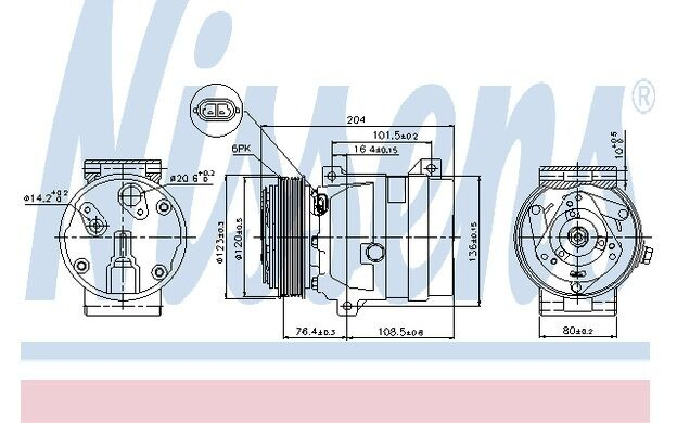 NISSENS Compresor, aire acondicionado OPEL VIVARO RENAULT MEGANE SC?NIC 89063