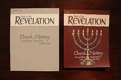 ABeka Revelation Church History textbook and student test booklet Homeschool