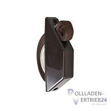 Rollladen Mini Halbeinlass Gurtwickler 14 mm braun Gurtband