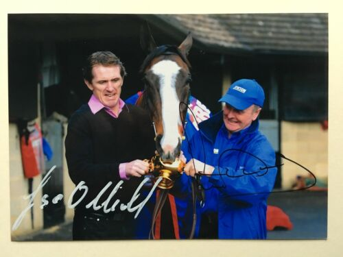 "Horse Racing Tony McCoy & Jonjo O'Neill signed 7"" x 5"" photograph"