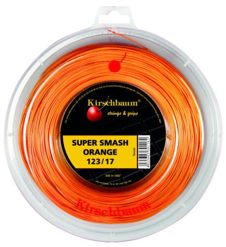 Kirschbaum Smash Orange 1,23 mm 200 m Tennissaiten 0,25€//m