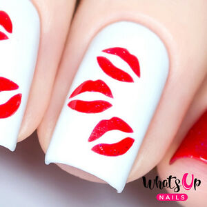 Kisses Stencils For Nails Valentines Day Nail Stickers Nail Art