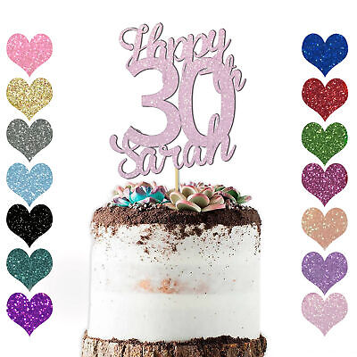 Miraculous Personalised Age Glitter Happy Birthday Cake Topper 10Th 16 18 21 Funny Birthday Cards Online Alyptdamsfinfo