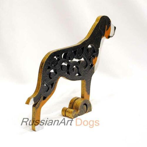 statuette wood Figurine Great Swiss Mountain Dog statue MDF