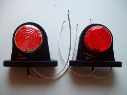 2 x  Rubber Side Marker Lights for Trailers//trucks //Ifor williams with bulb2