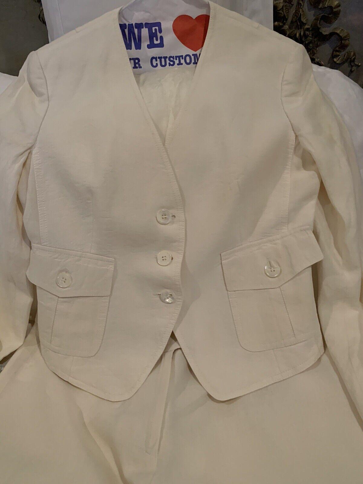 Cream Linen Michael Kors Suit - image 2