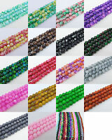 30pcs 8mm Round Chic Glass Loose Spacer Charms Beads Pick 18 Colors-1 Or Mixed G
