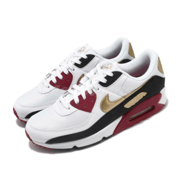 Nike Air Max 90 CNY Chinese New Year White Red Gold Men Casual Shoes CU3005 171