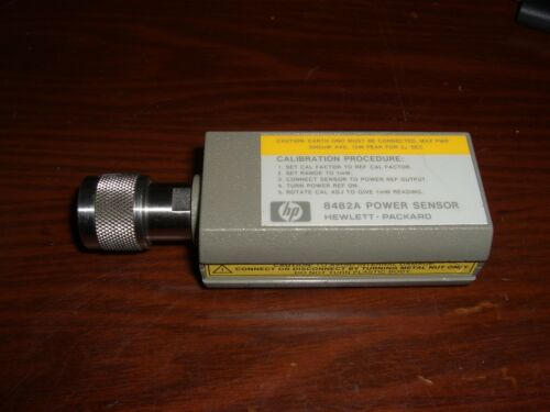 -30dBm 20dBm Agilent 8482A Power Sensor **TESTED**100kHz 4.2GHz 1uW 100mW HP