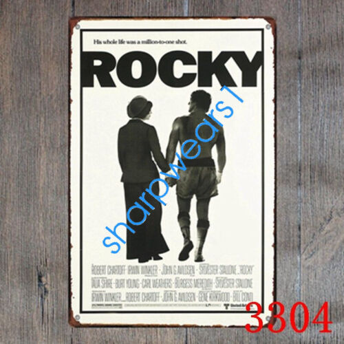 Metal Tin Sign ROCKY MOVIE Decor Pub Bar Home Vintage Retro Poster