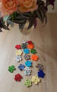 Tischdeko Blumen Blümchen Gehäkelt Hochzeit Feier Dekoration