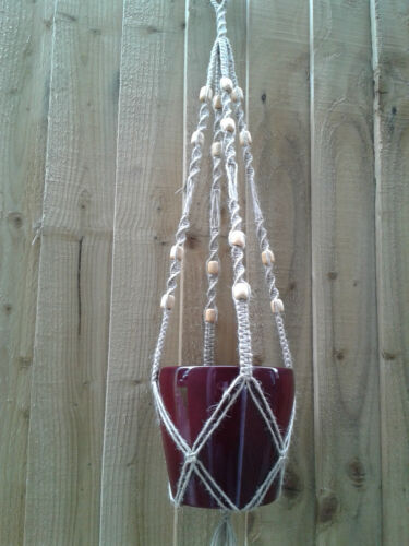 Fatto A Mano Decorativa dedicarmi al macramè Impianto Hanger Iuta Corda in vari colori Made in UK