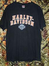 Harley Davidson Black Cotton T-Shirt Bumpus Harley Murfreesboro, TN - L (Fits M)
