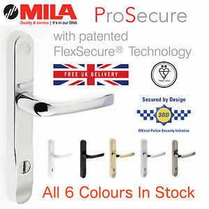 Mila ProSecure 240mm High Security Door Handle Kitemark 2* - 6 ...