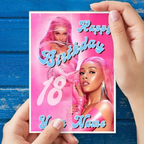 Doja Cat Birthday Card Dojo Cat Say So style Personalise with Name and Age