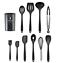 miniatura 6 - Set Utensili da Cucina in Silicone con porta utensili antiaderente high temper