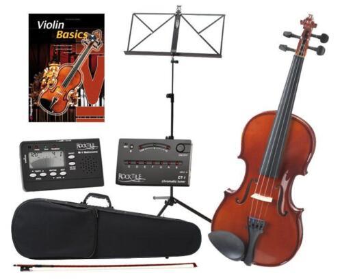 Classic Cantabile 4//4 Violine Set Geige Notenständer Metronom Tuner CD TOP PREIS