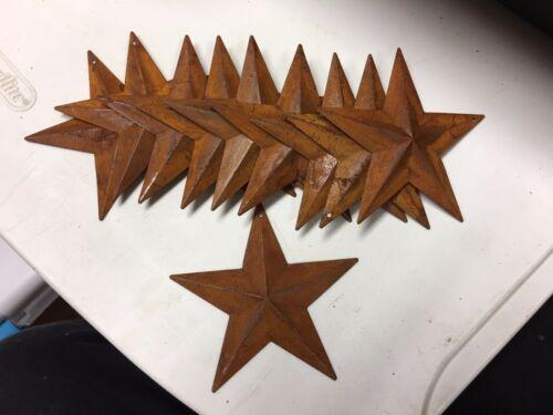 "DLCC~10 PCS PRIMITIVE RUSTIC 3.5/"" Prim Crafts barn stars rust"