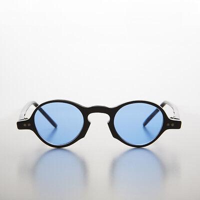 Blu Colorati Lenti Piccolo Rotondo Occhiali Da Sole Vintage - Augie
