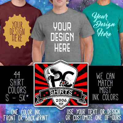 brand quality largest selection of largest selection of WHOLESALE CUSTOM T-SHIRTS Gildan Unisex personalized bulk Your Choice Color  Tee   eBay