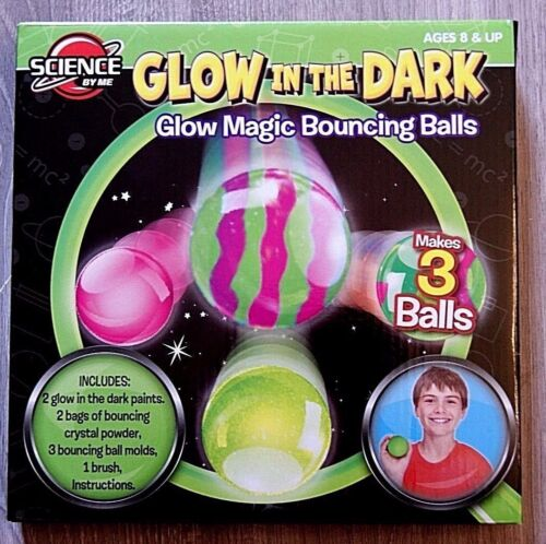 Glow In The Dark Glow Magic Bouncing Balls Science By Me Age 8 Brand New!