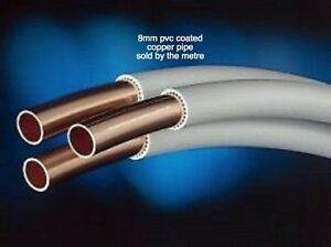 8mm copper pvc coated tube pipe sold per metre suitable for Internal pipe heater