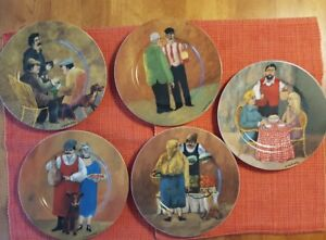 set 5 guy buffet tuscan storefronts salad plates made in germany 8 rh ebay com guy buffet plates for sale guy buffet plates williams sonoma