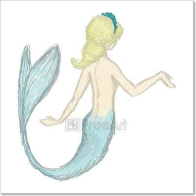 A Mermaid Silhouette Art Print Home Decor Wall Art Poster