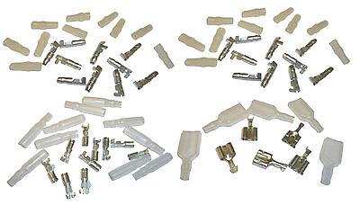 35 Japanese Bullet Connectors / Terminals 3.9mm Male, Female & Double Assortment