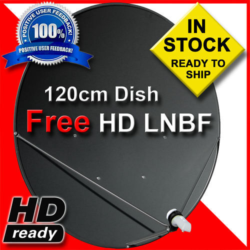 TWO 48 Inch 120 cm 1.2 M Offset Satellite Dishes with SL1PLL HD LNBF
