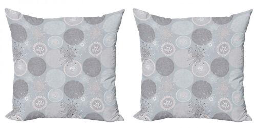Abstrakt 2 Teiliges Kissenbezugs Set Kreisförmige Pastellformen