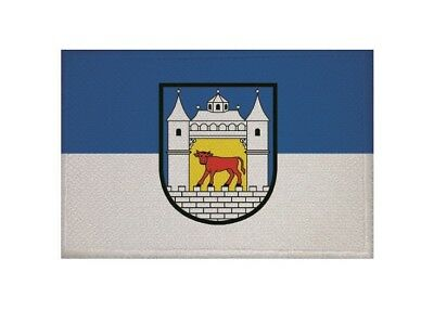 Aufnäher Düsseldorf Fahne Flagge Aufbügler Patch 9 x 6 cm
