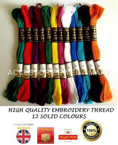 most demanding basic fast colours Solid Anchor pearl Cotton Embroidery Thread