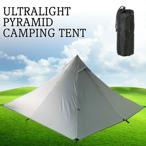Ultralight Pyramid Camping Tent 1 person Hunting Waterproof Shelter Easy Set up