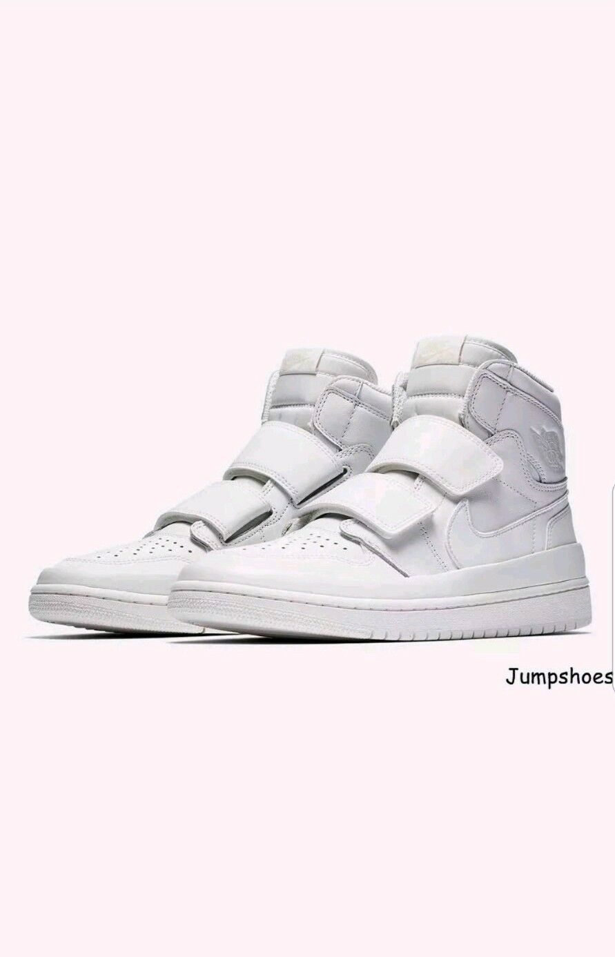 Air Jordan 1 Retro Alta Doppio Doppio Doppio Strap Summit bianca-Lifestyle Taglia 9 UK-AQ7924-100 89212d