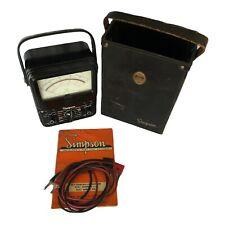 Vintage Simpson 260 Series 5 Volt Ohm Milliammeter Test Lead Manual Leather Case