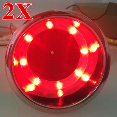 4X White LED Cup Drink Holder for Boat //Car//Truck RV//Yacht//Kayak Stainless Steel