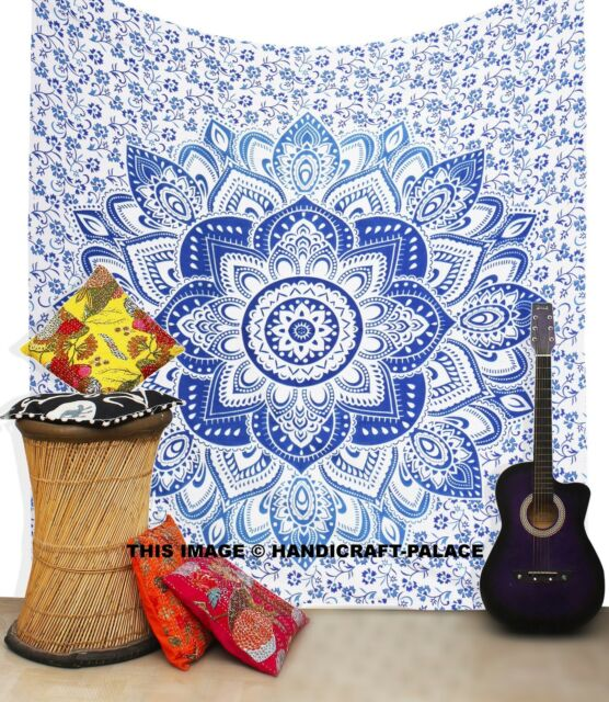Tagesdecke Wandbehang Deko Tuch Indien Shade Mandala Tepisery Picknick Überwurf