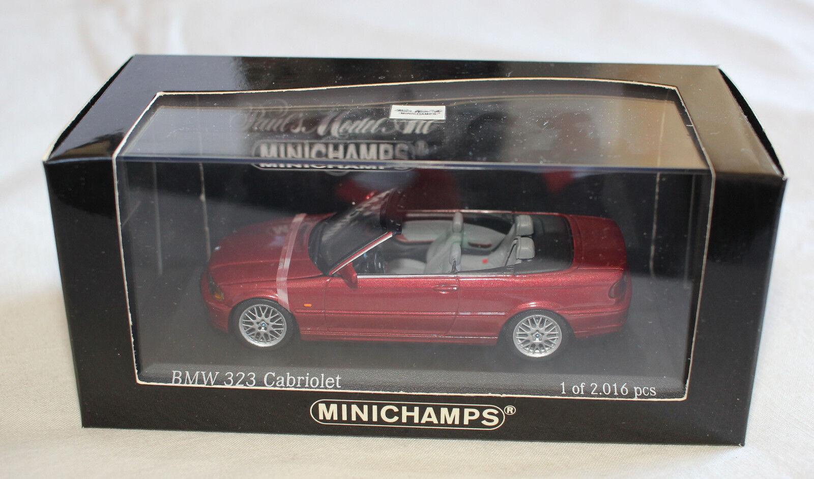 Minichamps 431028030 BMW E46 2000 323i Cabriolet Siena rouge Metallic 1 43