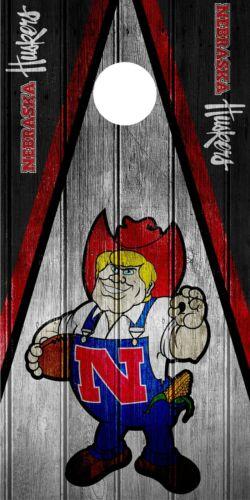 SINGLE Nebraska Cornhuskers Cornhole Wrap Skin Decal Vinyl NCAA Mascot NK184